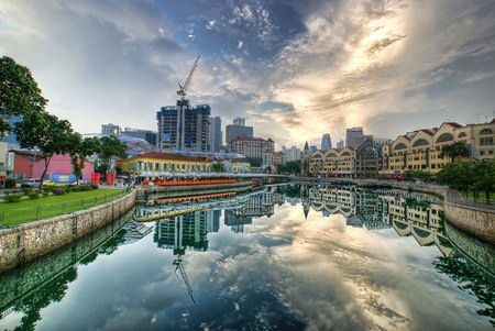 HDR Photos - Clark Quay Reflected