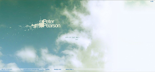 Peter Pearson website screenshot
