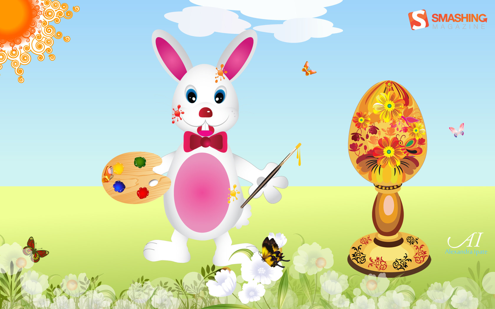 35 Joyful Easter Wallpaper Funny Bunnies And Painted