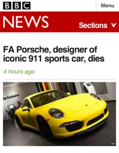BBC mobile UI