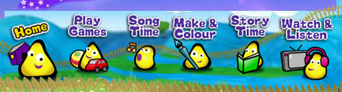 CBeebies Navigation Bar