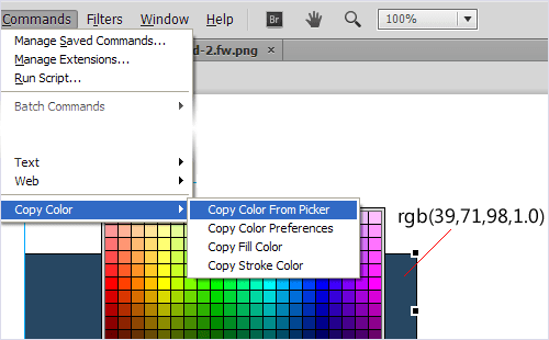 Copy Color to Clipboard extension