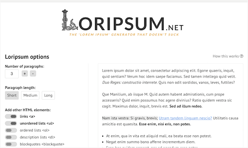 Loripsum
