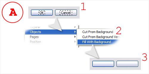 Fill With Background (Adobe Fireworks extension)