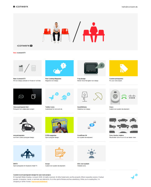 German Web Design - iconwerk, custom icon design & pictogram design.