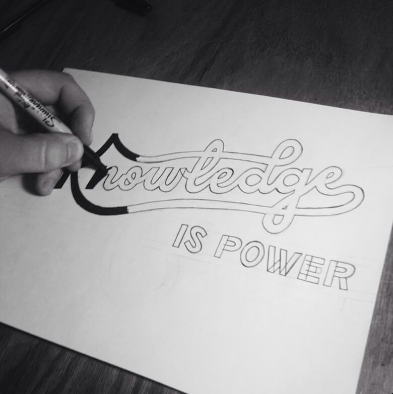 Left handed brush lettering how to get started smashing