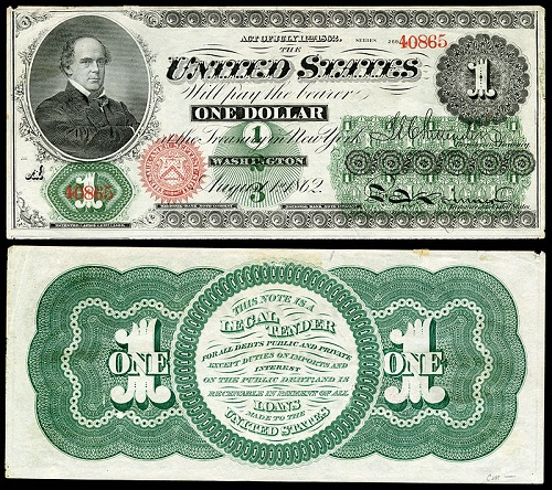 Civil War One-Dollar Bill