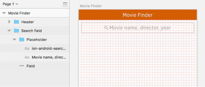 The search box consists of the field itself, an icon and the placeholder text