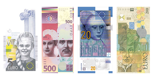 Portrait-based Euro Banknote Design Concepts
