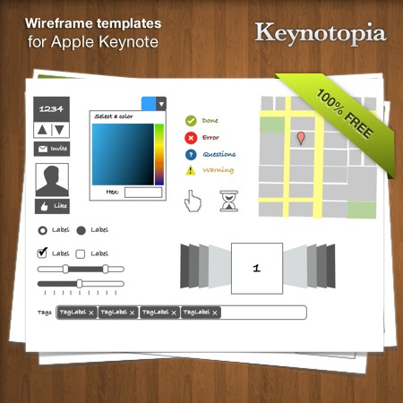 keynotopia wireframing set: free wireframing templates for apple, Powerpoint templates