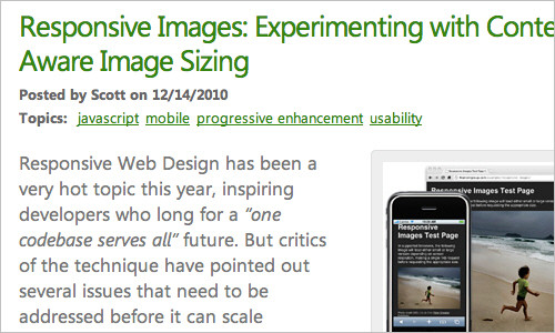 Responsive Image: Experimenting With Context-Aware Image Sizing