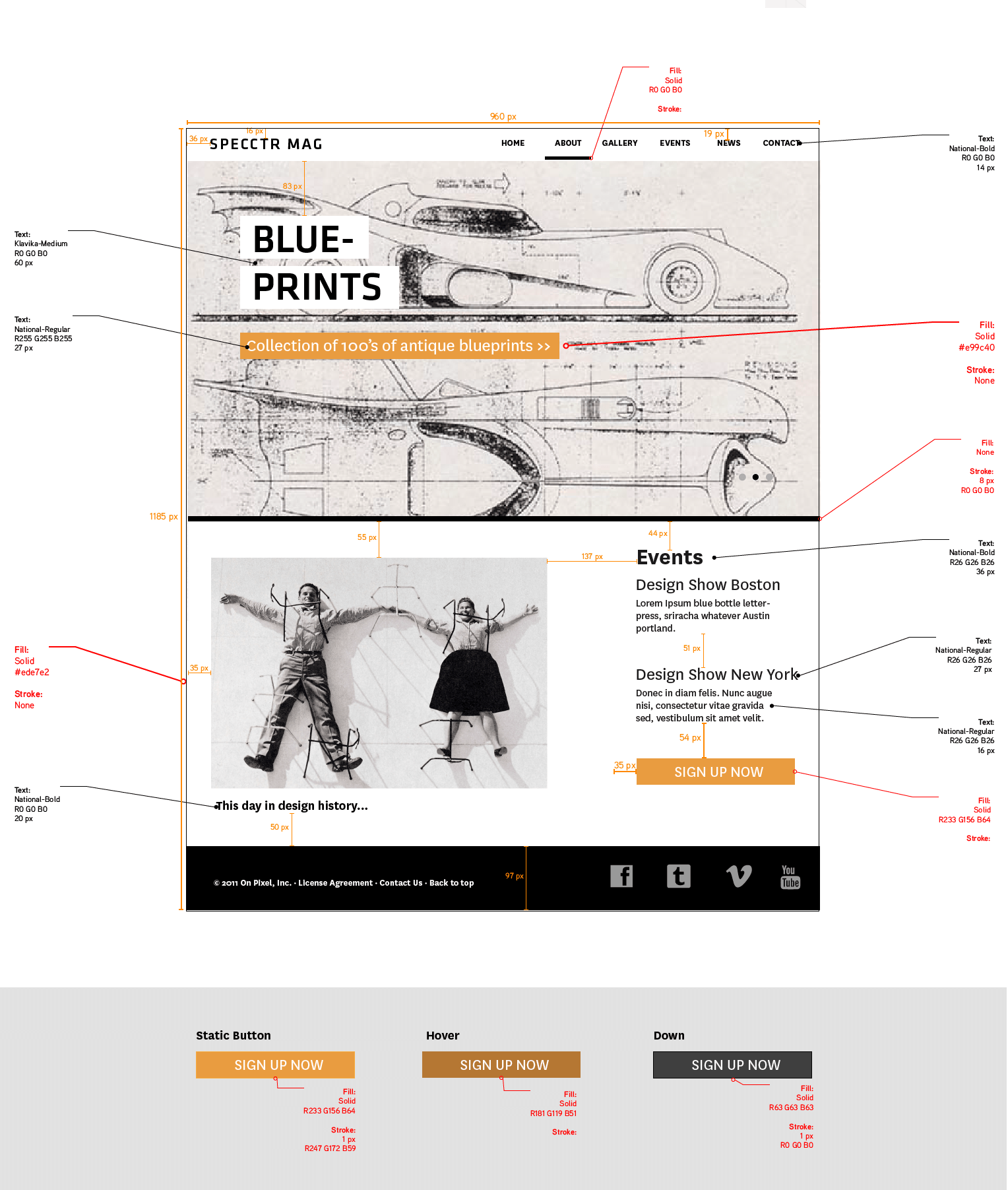 Blueprints For Web And Print: Specctr, A Free Adobe Illustrator