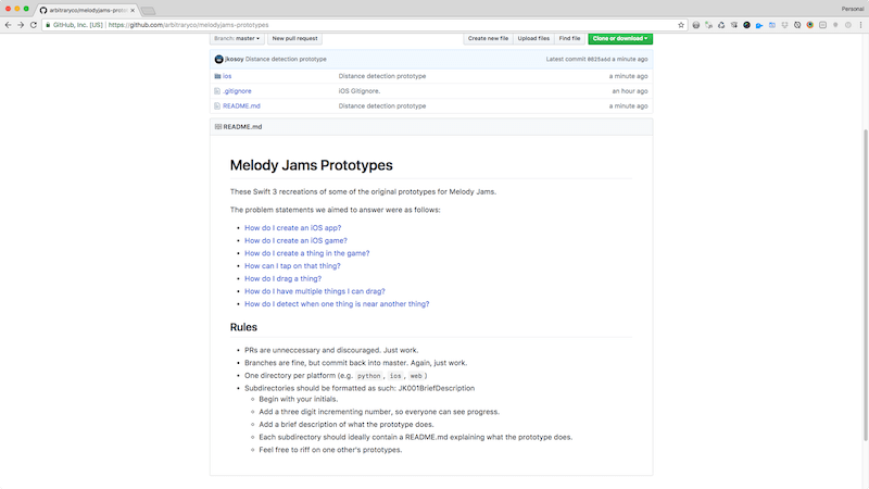 See the prototype process in action on GitHub!