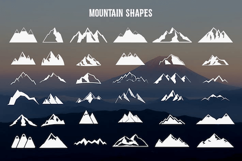 Mountain shapes