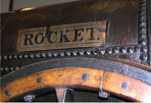 "The original ""Rocket,"" in the Science Museum in London."