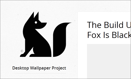 The Fox Is Black