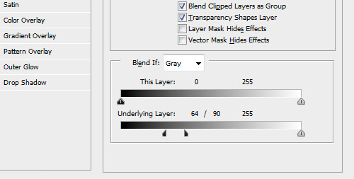 "The ""Blend If"" sliders separated."