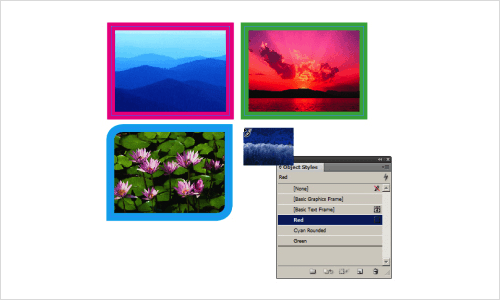 Choose Object Style While Placing Pictures