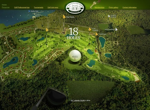Russian Web Design - Pestovo Golf and Yacht Club