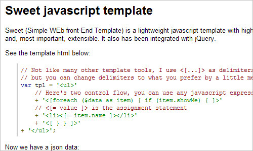sweet-template - Project Hosting on Google Code