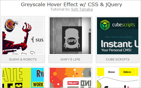 Greyscale Hover Effect w/ CSS and jQuery