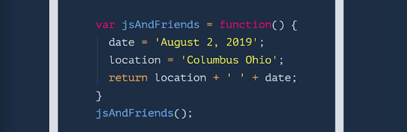 JavaScript and Friends Conference 2019