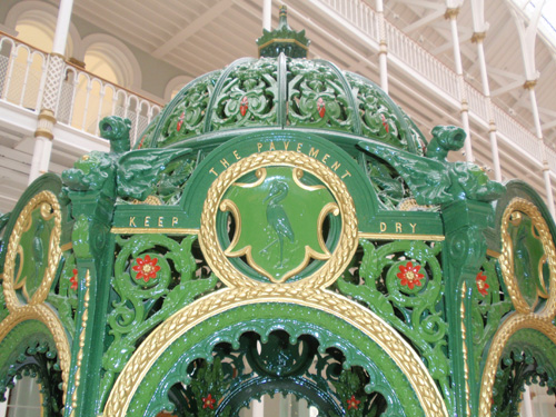 Ornate shelter for a Victorian drinking fountain.