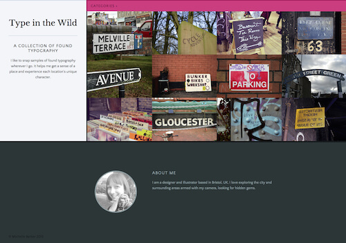 Desktop view of our webpage