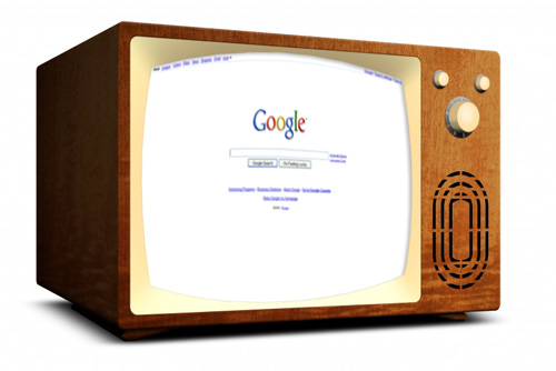 Google on an Television