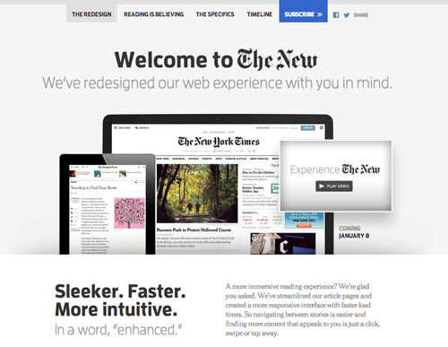 The New York Times follows responsive design in different ways.