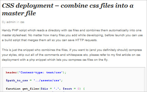 CSS deployment – combine css files into a master file