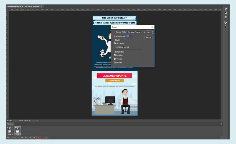 How To Convert An Infographic Into A Gifographic Using Adobe Photoshop