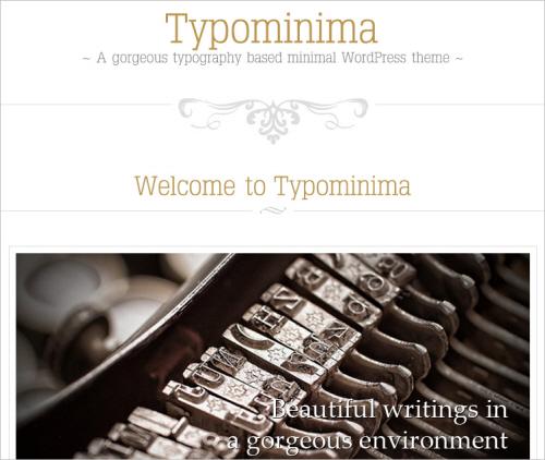Typominima Free WP Theme