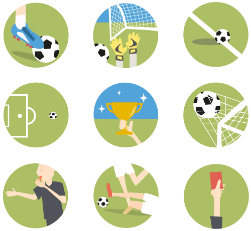 13 Sporty Soccer ⚽ Football Icons [Freebie]