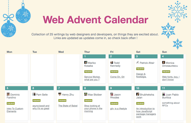 Web Advent Calendar