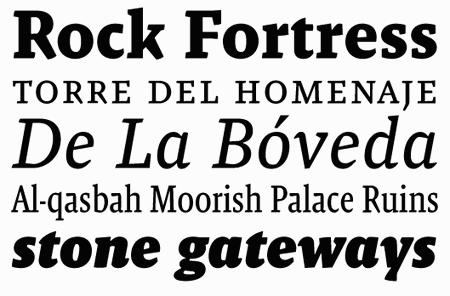 Professional Typefaces - Malaga Volume