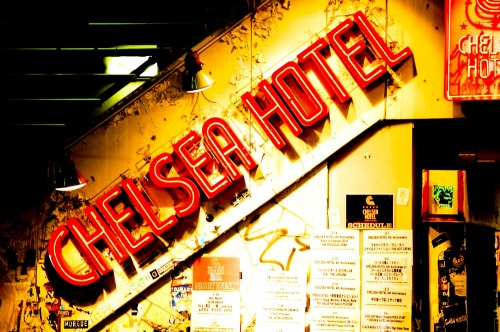 Wayfinding and Typographic Signs - chelsea-hotel