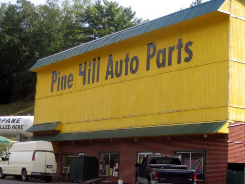 Wayfinding and Typographic Signs - pine-hill-auto