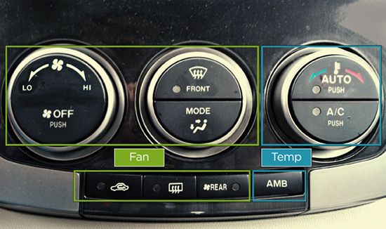 Optimized A/C Control Layout