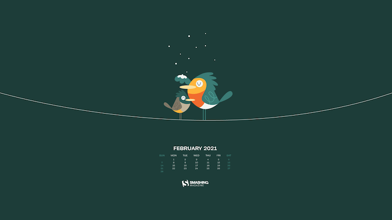 Inspiring Wallpapers For February 2021 And A Little Creativity Challenge — Smashing Magazine