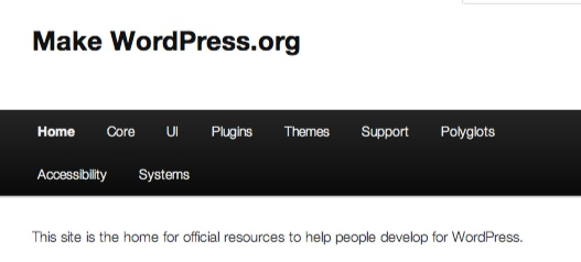Make Wordpress.org is where you can find blogs for all the contributor groups.