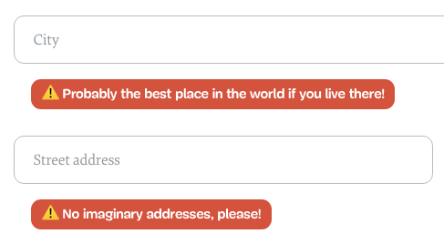 Error Messages on the new SmashingMag