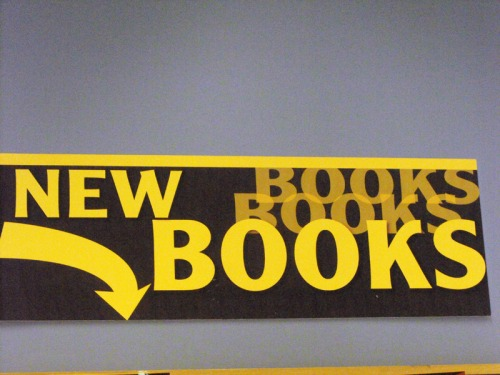 Wayfinding and Typographic Signs - new-book-sign