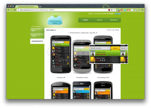 Testdroid cloud screenshot