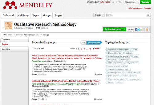 Mendeley allows you to catch up on the literature others in your group have posted, strengthening in-group ties