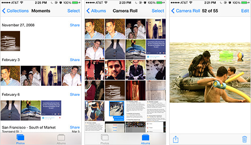Viewing photos with the Apple Photos Mobile App