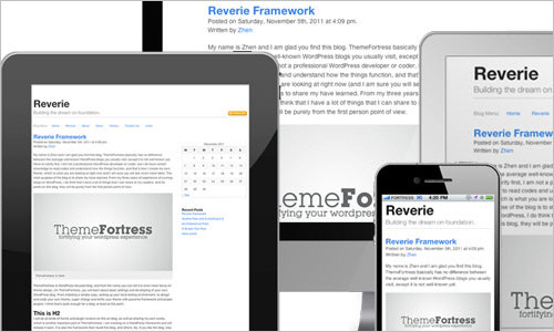 Reverie: Versatile HTML5 WordPress Framework