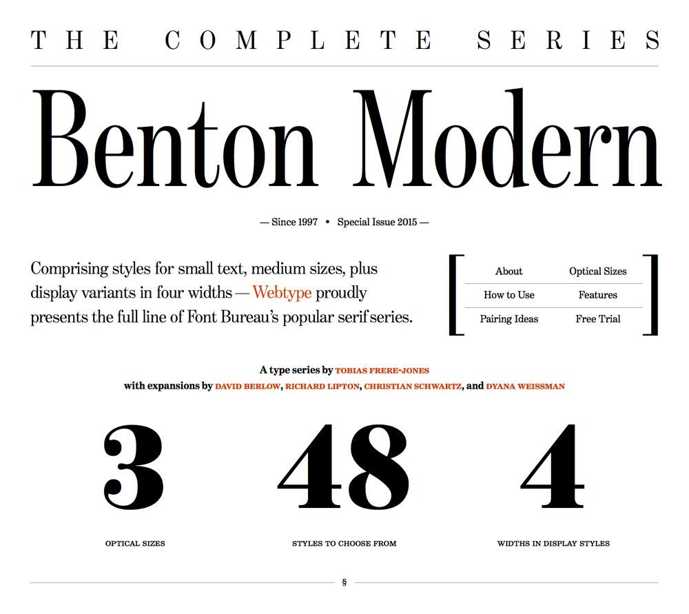 Benton Modern, A Case Study On Art-Directed Responsive Web
