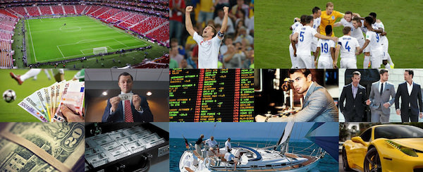 A Mood board for Betoscope,the online football betting website.