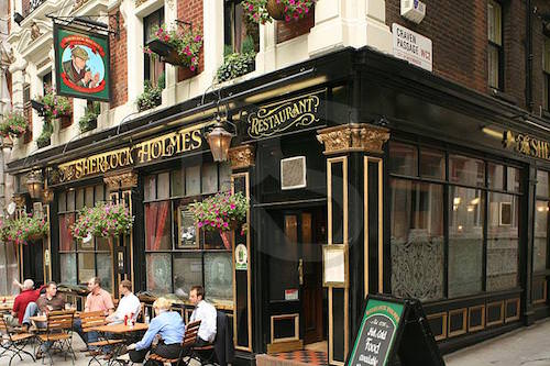 Sherlock Holmes Pub in London, UK
